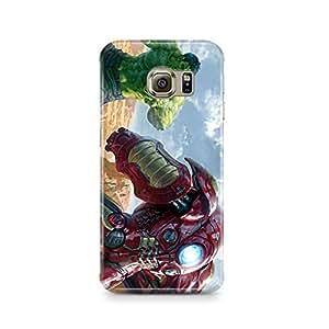 Motivatebox - Samsung S7 Edge Back Cover - Avengers Fight Polycarbonate 3D Hard case protective back cover. Premium Quality designer Printed 3D Matte finish hard case back cover.