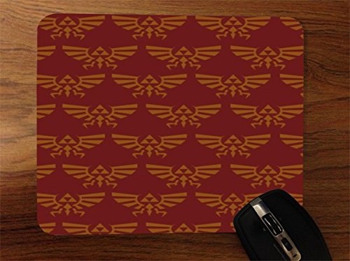 Red Triforce Pattern Desktop Office Silicone Mouse Pad by Demon Decal