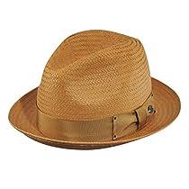 Bailey Suntino Straw Fedora Hat (Large, Putty)