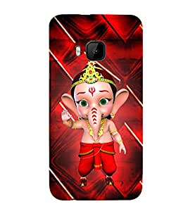 Little Ganesh 3D Hard Polycarbonate Designer Back Case Cover for HTC One M9 :: HTC M9 :: HTC One Hima