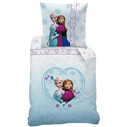 Disney frozen set di biancheria da letto per bambini 135 x 200 e 80 x 80 cm turchese t rkis - Biancheria letto disney ...