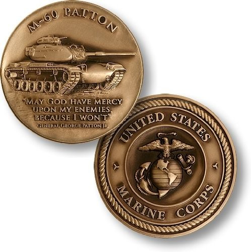 M-60 Patton Marines Challenge Coin