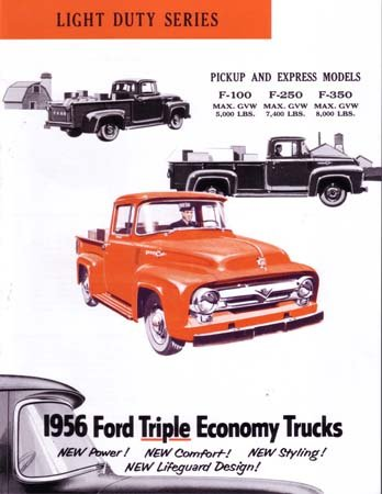 1956 FORD F SERIES TRUCK Sales Brochure Literature plastic clear a6 three tiers acrylic brochure literature leaflet display holders racks stands on desktop 2pcs good packing