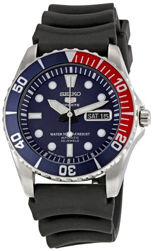Seiko 5 Sports Divers Style Automatic With Rubber Divers Strap SNZF15J2
