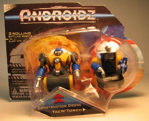 Androidz Construction Drone and Tac N'Torch Robots - 1