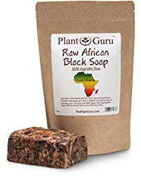#1 Best Quality ★ Raw African Black Soap ★ Imported From Ghana 1lb. ★ Grade A ★ Professionally Packaged in Quality Heat Sealed Resealable Zip Lock Pouch