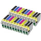 20 compatibles cartuchos de tinta 16XL Para Impresora Epson WorkForce Printers WF-2010W WF-2510WF WF-2520NF WF-2530WF WF-2540WF