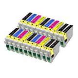 20 Compatible Epson Ink Cartridges For Epson Stylus S22 SX125 SX130 SX420W SX425W SX445W BX305F BX305FW SX230 SX235W SX445W SX435W SX430W SX438W SX440W Printer. 3x T1281 Black, 6x T1282 Cyan, 6x T1283 Magenta, 6x T1284 Yellow
