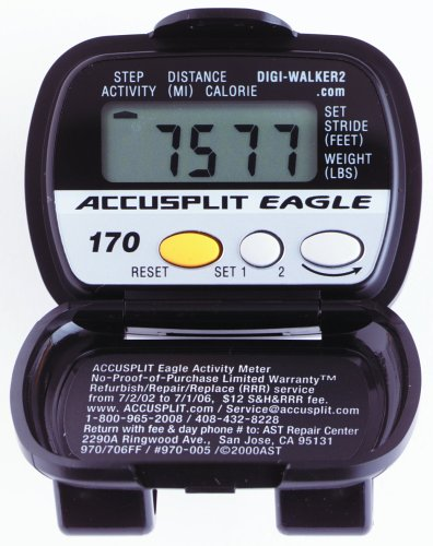 Cheap ACCUSPLIT AE170 Pedometer with Steps, Distance, and Calories Burned (AE170XLG)