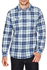 North Coast Pure Cotton Herringbone Checked Shirt [T25-6023N-S]