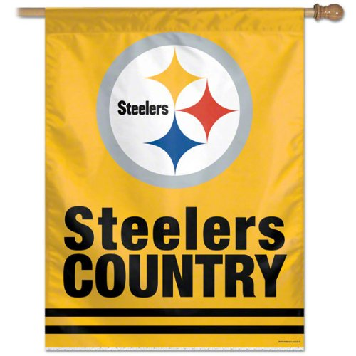 Pittsburgh Steelers Steeler Country Vertical Flag: 27x37 Banner