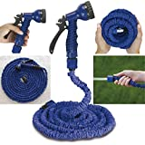 VelVeeta Deluxe NEW Flexible Expandable Magic Hose 50 Feet Expandable Garden Hose & Spray Nozzle In Plastic +...