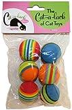 Cat-A-Lack 6-Piece Striped Balls for Pets