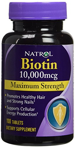 Natrol Biotin 10,000 mcg Top Strength Tablets, 100-Count