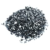 Onlyfire Reflective Fire Glass for Natural or Propane Fire Pit, Fireplace, or Gas Log Sets, 10-Pound, 1/4-Inch, Onyx Black