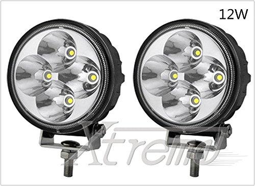 """Xtreme® 2 Pack 3"""" Inch 12Watt High Power Led Work Lamp Offroad Light For Truck, 4Wd, Atv, Utv, Bike, Motorcycle (12W Round, Spot Light)"""