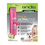 Andis ProClip AGC2 UltraEdge Universal Supper 2-Speed Professional Pet, Dog & Animal Detachable Blade Clipper 3,400/4,400 Strokes Per Minute UltraEdge Size 10 Blade & Maintenance Card Included (Color: Summer Pink)