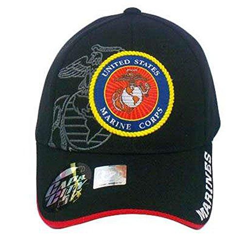 Us Marines Marine Corps Usmc Seal Licensed Blk Hat Cap