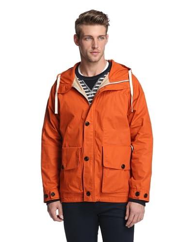 Todd Snyder Men's Plain Weave Marine Zip Up Jacket