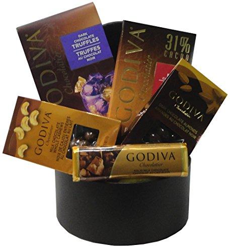 Small Godiva Chocolate Basket Black