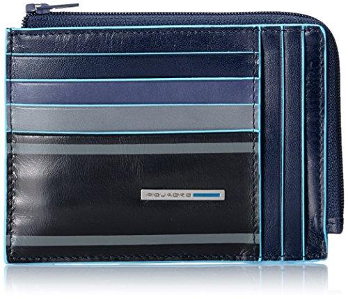 Piquadro Blue Square Portafoglio, Pelle, Blu, 12.00 cm
