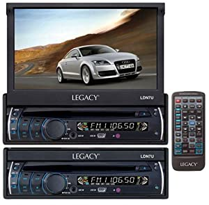 Legacy LDN7U 7-Inch Motorized Touch Screen TFT/LCD Monitor with DVD/CD/MP3/AM/FM Player by Legacy