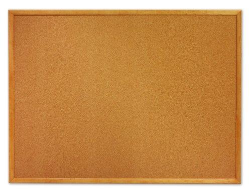 Quartet Cork Bulletin Board, 2 x 3 Feet, Oak Finish Frame (MWDB2436-ECR) (24 X 36 Cork Board compare prices)