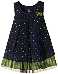 Herberto Girls' Party and Evening Dress (HRBT-DRESS-116-2_Blue_5 - 6 years)