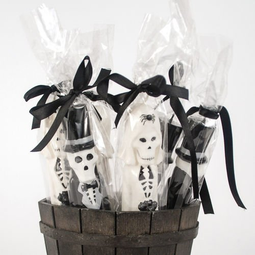 One Hundred 80 Degrees Newlydeads Groom and Bride Skeleton Taper Candles (Set/2)