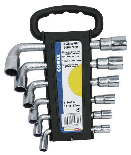 Cogex 3563 - Chiave a pipa aperta, su supporto in plastica