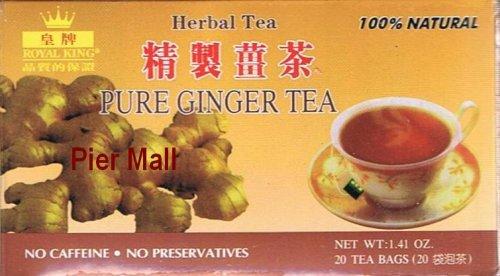 Pure Aged Ginger Tea (20 Tea Bags) - Sugar Free, Caffeine Free