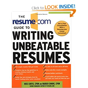 Resumescom easy online resume builder create or upload your rsum The Resumecom Guide To Writing Unbeatable Resumes By Rose Curtis