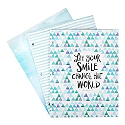 DaySpring Sadie Robertson\'s Fashion Folders, Let Your Smile Change the World, 3 Count (88504)