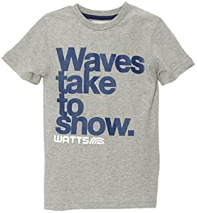 Watts Tomm T-Shirt manches courtes garçon Misty Grey FR : 16 ans (Taille Fabricant : 16 ans)