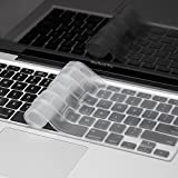 Saco High Quality Silicone Keyboard Protector Skin Cover for Apple MacBook Air MJVM2HN/A 11-Inch Laptop -Transparent