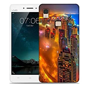 Snoogg Storm At Night Designer Protective Phone Back Case Cover For Vivo V3 Max