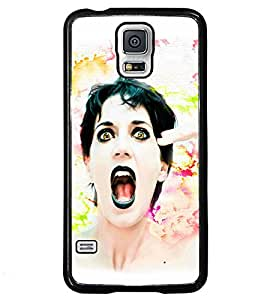 Fuson Colourful Girl Back Case Cover for SAMSUNG GALAXY S5 - D3653