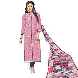 pakiza design new peach chanderi cotton partywear salwar suit dress material for women