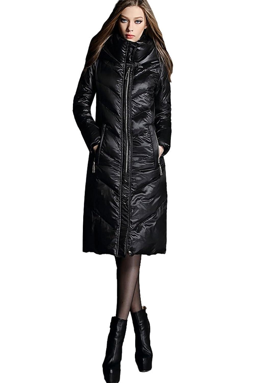 queenshiny Damen Lange Daunenjacke Mantel Jacke mit Kapuze unterhalb der Knie Warme Winter jetzt bestellen