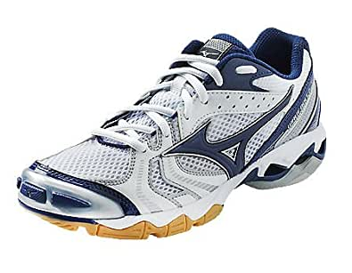 Mizuno Wave Bolt 2 Women's Volleyball Shoes (White/Navy, 8)