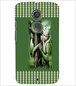 PrintDhaba Fantasy Girl D-3574 Back Case Cover for MOTOROLA MOTO X2 (Multi-Coloured)