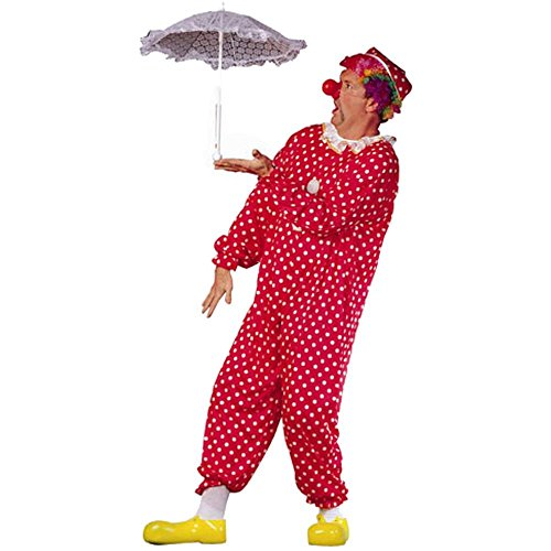 Adult Men's Plus Size Polka Dot Clown Costume (42-50)