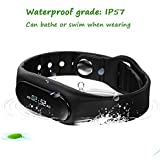 Generic Bluetooth Smart Bracelet Sports Fitness Tracker Smart Wristband Water Resistant OLED Screen Support For...