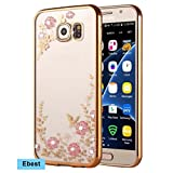 Galaxy S7 Edge Case, Ebest Glitter Electroplate Bumper Bling Butterfly Garden Soft TPU Silicone Flip Back Cover...