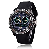 ufengke® fraîche chronographe de course de voiture à temps double montre à bracelet numérique,100m sport imperméables montre à bracelet-noir...