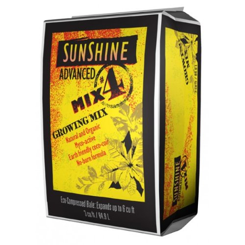 Sunshine Advanced Growing Mix 4 - Compressed - 2.2 Cu.Ft. front-1017601