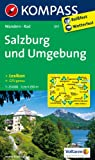 Salzburg und Umgebung: Wanderkarte mit Aktiv Guide und Radwegen. GPS-genau. 1:25000 (KOMPASS-Wanderkarten)