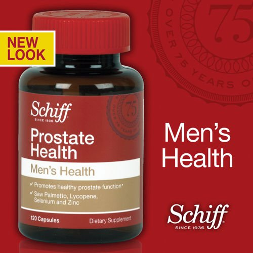Schiff Prostate Health With Saw Palmetto, Lycopene & Selenium, 120 Capsules Natural Ingredients, Scientifically Formulated To Promote Healthy Prostate Function (Pack Of 2)