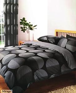 Black Amp Grey King Size Duvet Set With Matching Curtains 66