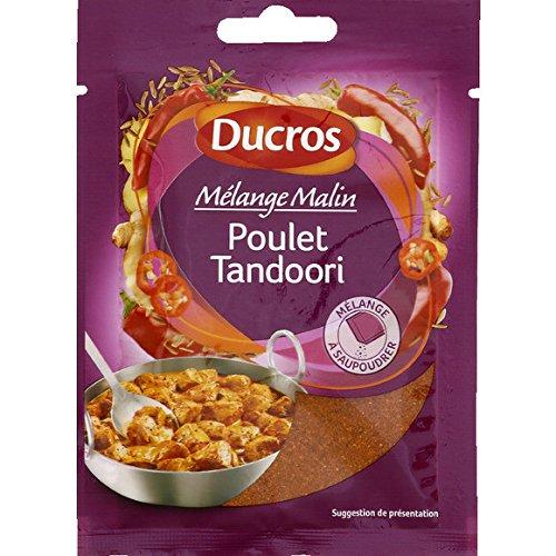 Ducros - Plat exotique - Mélange pour poulet tandoori, gingembre, cumin, piment - Le sachet de 20g - (pour la quantité plus que 1 nous vous remboursons le port supplémentaire)